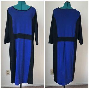 Long comfy blue and black oversized dress sz 1X